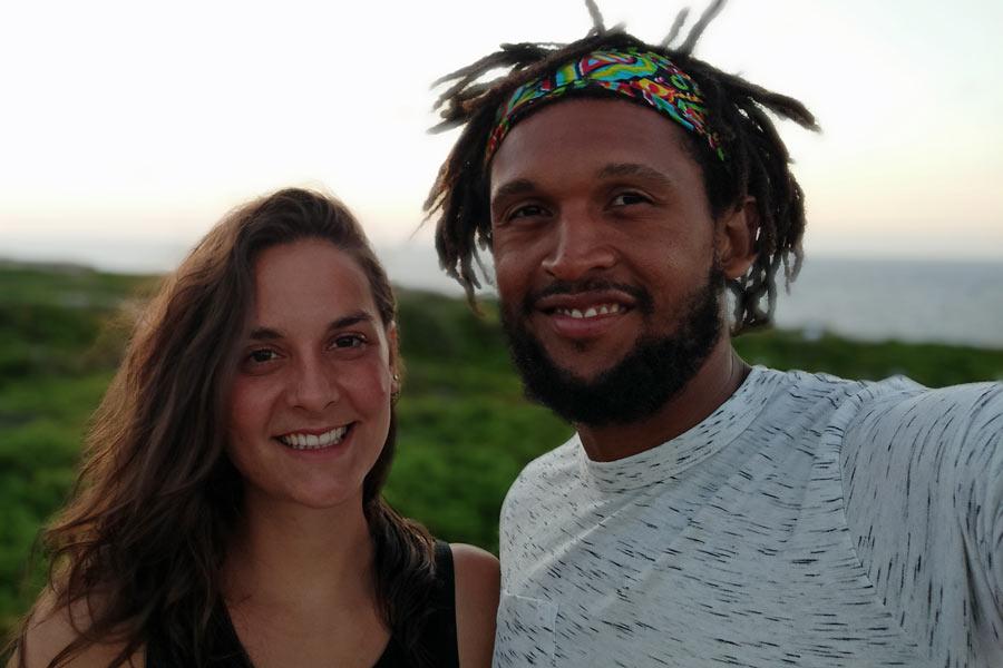 Portrait shot of Eli and husband Clivi