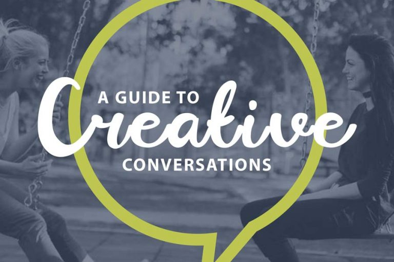 cover art for a guide to creative conversations