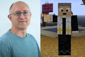 portrait photo of Kevin CVolyer with his Minecraft avatar