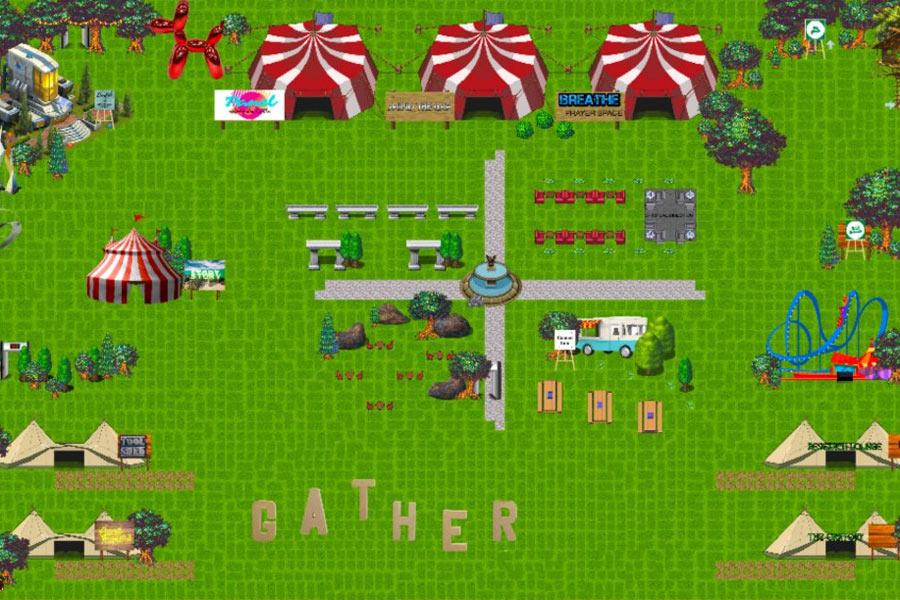 Screenshot of Gather festival environment