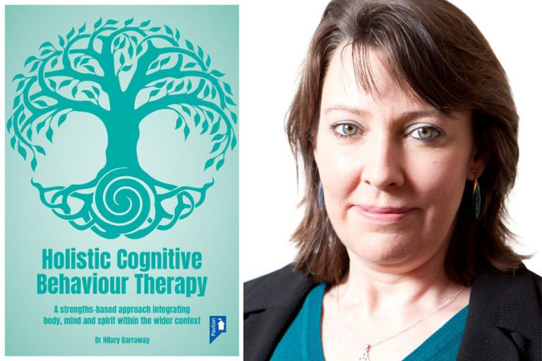 Cover image of book and portrait photo of Dr Hilary Garraway