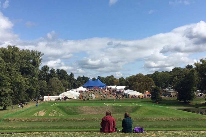 View across the festival site. (Photo: James Fox-Robinson)