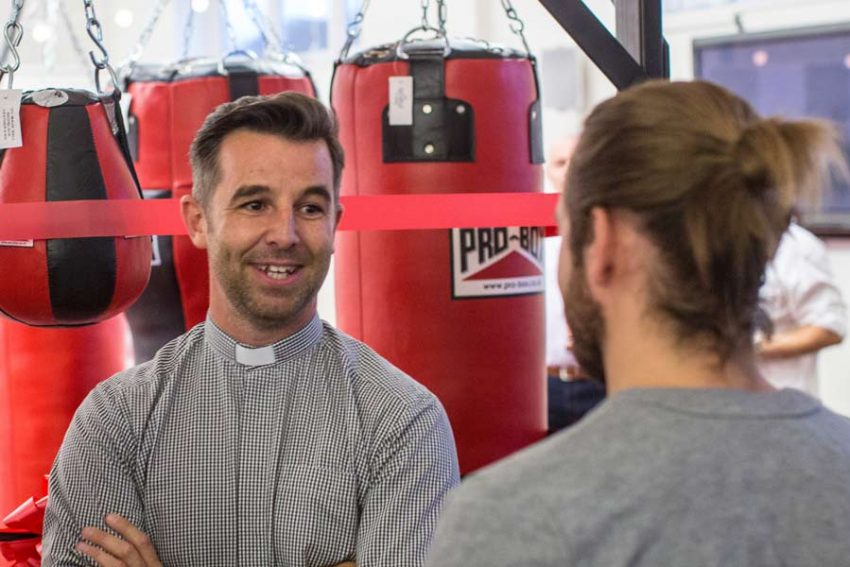 David Harrigan of the St Cedd Centre for Pioneer Mission - pictured here at the launch of the Good Shepherd Boxing Community