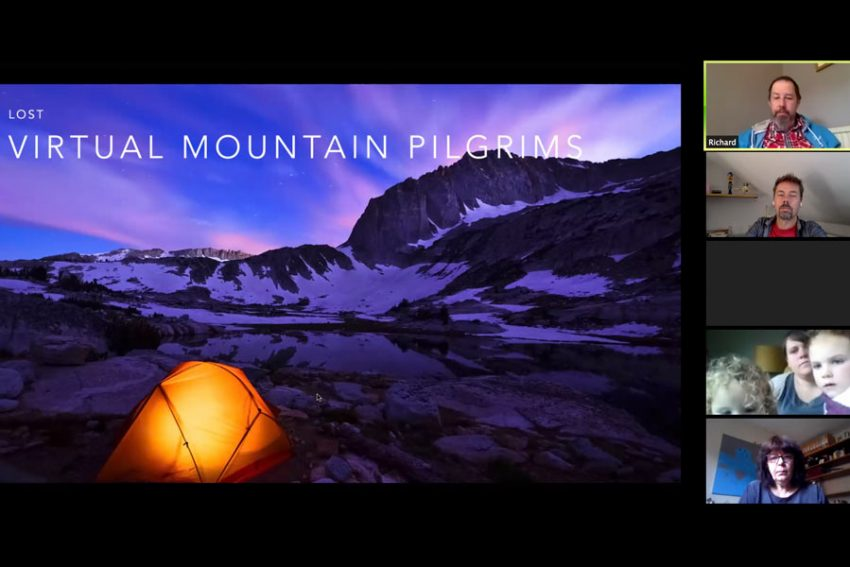 A screenshot from Virtual Mountain Pilgrims event as part of the training