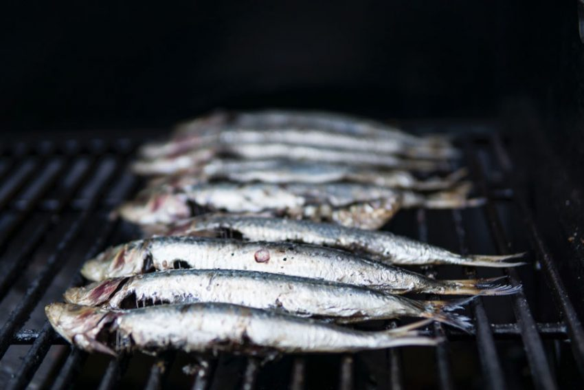 Fish on a barbecue